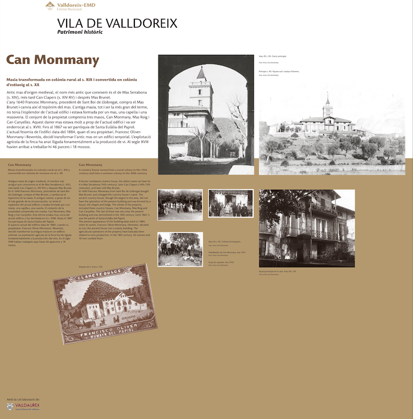 Monmany historia