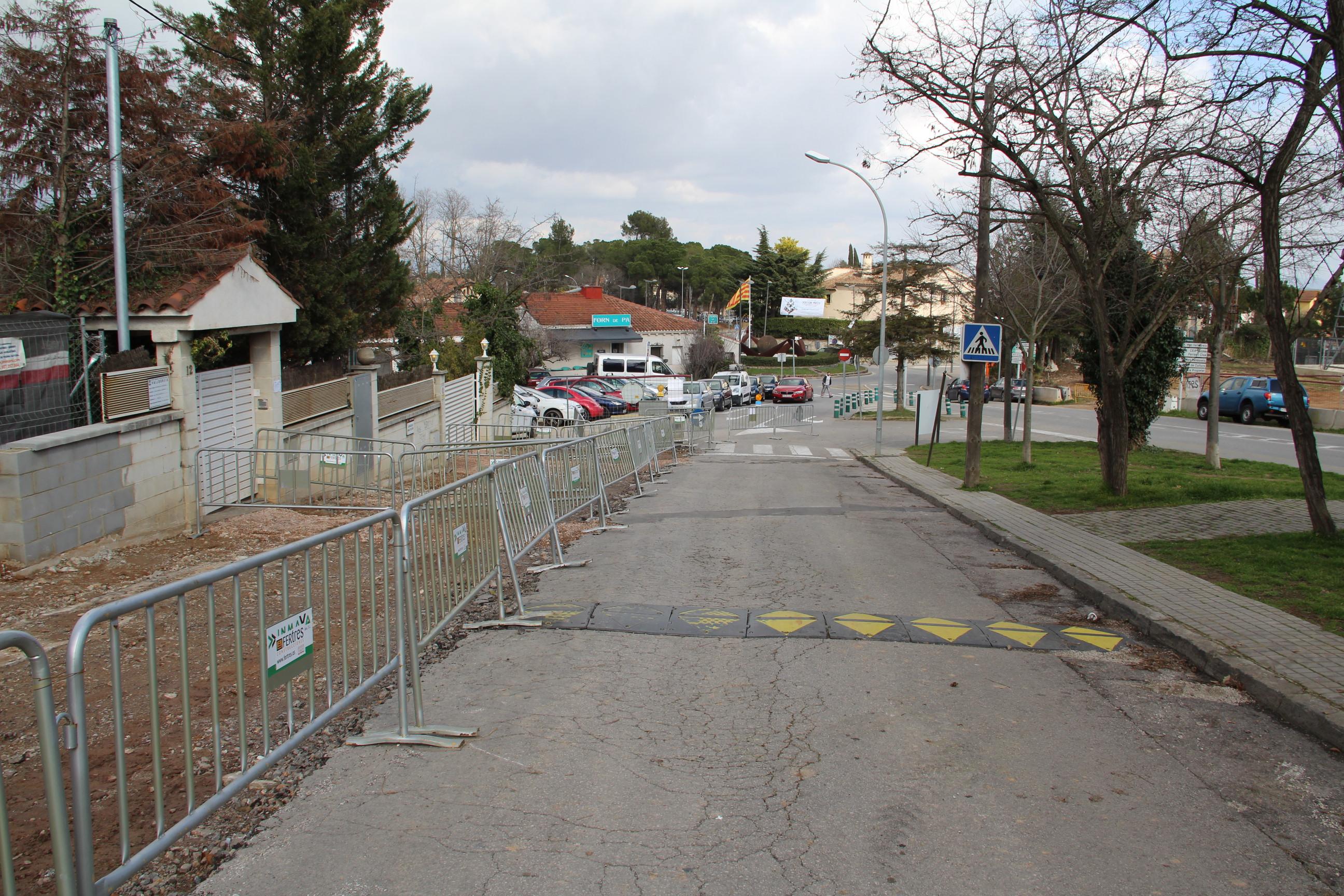 Les obres de l'avinguda Mas Fuster avancen a bon ritme