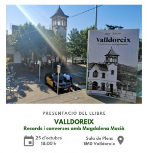 Presentació del llibre: Valldoreix; Records i converses amb Magdalena Macià @ Sala de Plens EMD-Valldoreix