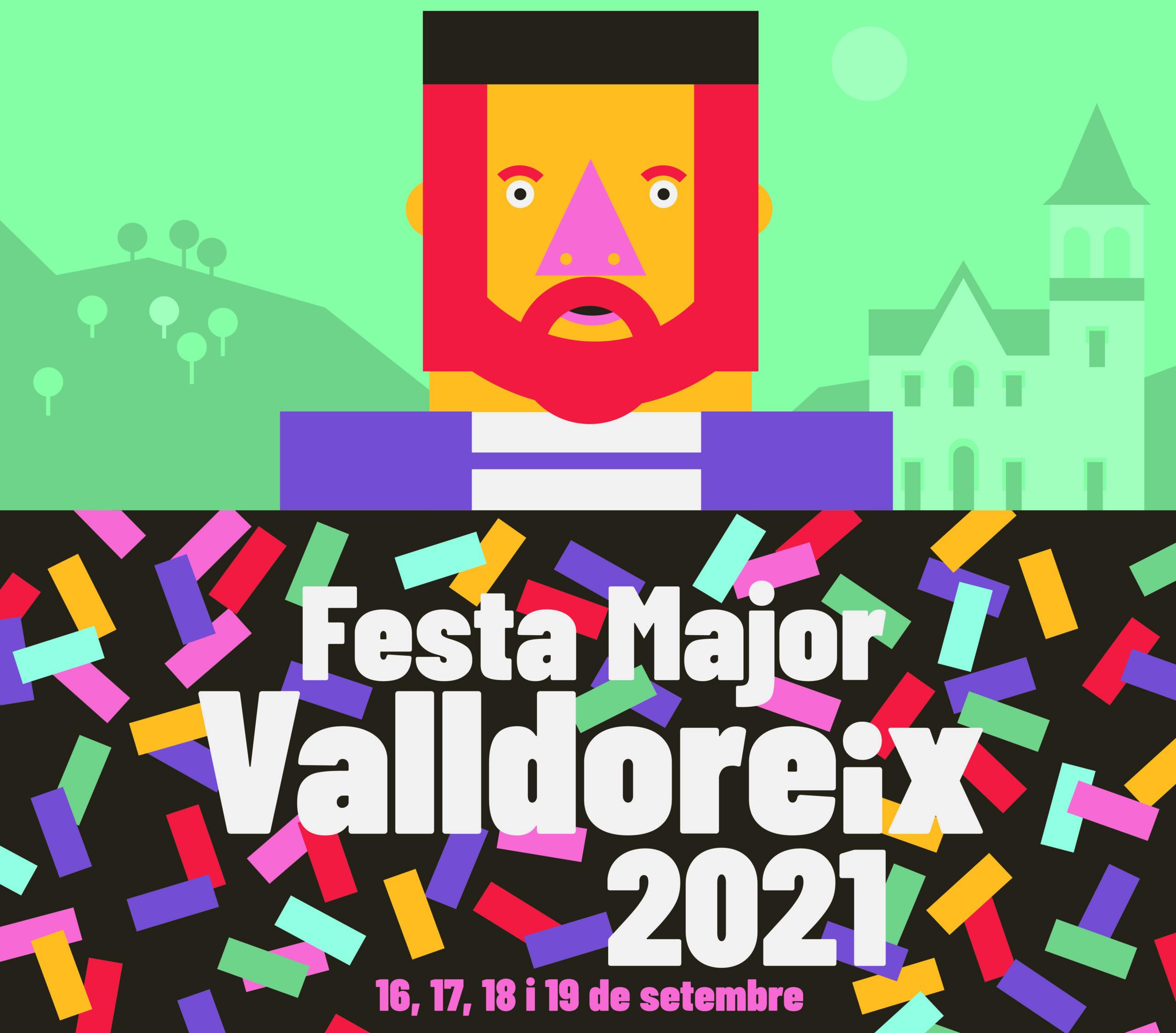 'L'Assumpta i el Cebrià et conviden a la Festa' de David Gutiérrez, cartell anunciador de la Festa Major de Valldoreix 2021