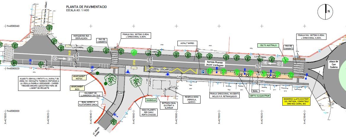 La reurbanització de la zona comercial de Valldoreix comencen l'última setmana de juliol